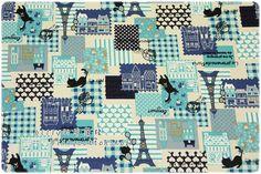 biancheria di cotone tessuti gatti di billycottonshop0413