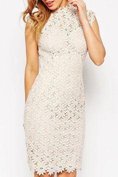 Classic / floral pattern lace Dress.