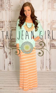 Peach and Mint is PERFECT together! Shop here: http://thejeangirlshop.com