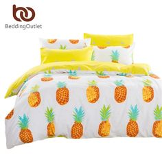 Cheap fruit zester, Buy Quality fruit service directly from China cotton australia Suppliers: Dropshipping Pineapple Bedding Set Sweet Printed Fruit Bedsheet Soft Cotton Duvet Cover Set Twin Queen Size&n Yellow Bedding Sets, Best Bedding Sets, Duvet Bedding Sets, Luxury Bedding Sets, Queen Bed Sheets, Twin Bed Sheets, 100 Cotton Duvet Covers, Duvet Cover Sets, Bed Sets