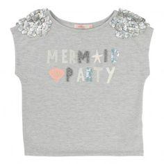 T-Shirt Lurex Mermaid Party Gris chiné  Billieblush