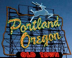 Portland Oregon Sign Fine Art Print by mesmanimages on Etsy, $20.00