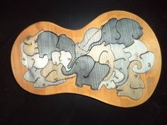 Elefanten-Tray-Puzzle Bauanleitung zum selber bauen