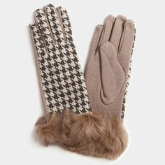 Beige Fur Trim Wool Gloves. Get the lowest price on Beige Fur Trim Wool Gloves and other fabulous designer clothing and accessories! Shop Tradesy now
