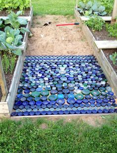 using bottles to make a garden path - Google Search
