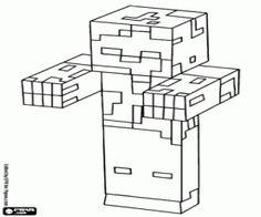 Disegni da Colorare LEGO Minecraft: Steve e Alex   quadri