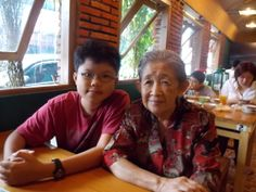 With Grandma at RM Bakmoy.