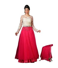 Loved it: Ajay And Vijay Red Net Semi Stitched Embroidered Salwar Suit, http://www.snapdeal.com/product/ajay-and-vijay-red-net/1787368825