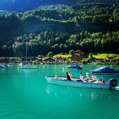 Beautiful boat cruise on Lake Brienz.