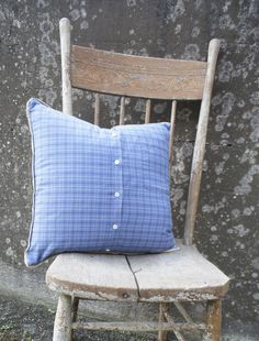 """Let's Rest"" Plaid Without-end Custom Pillow"