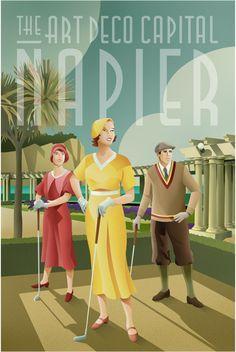 Napier art deco promotional poster vintage of san francisco poster travel v Vintage Design, Vintage Art, Vintage Prints, Art Journal Pages, Poster S, Poster Prints, Vintage Magazine, Art Deco Paintings, Art Deco Illustration