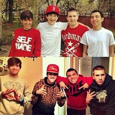 Austin Mahone and the crew then and now