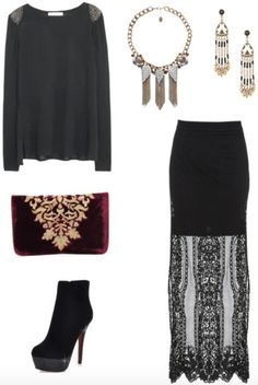 Class to Night Out: Embellished Shoulder Sweater - College Fashion