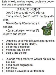 Texto O GATO XODÓ