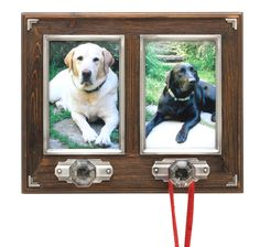 "Dog Leash Holder w/Double 4""x6"" Photo Frame from Arthur Court in Yardley, PA from Pink Daisy"