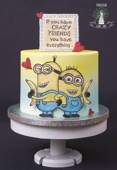Ystävänpäivä minion kakku, Minion cake