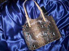 Mondani New York Caprice Snakeskin Faux Leather Shoulder Tote Purse Handbag NWT $39.99