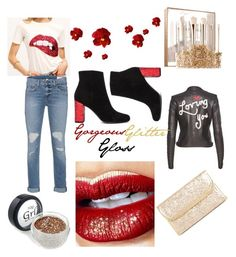 """""""Gorgeous Glitter Gloss"""" by existence-strive-succeed ❤ liked on Polyvore featuring beauty, Ashley Stewart, Sephora Collection, Alice + Olivia, Yves Saint Laurent and rag & bone"""