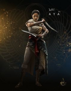 Assassin's Creed: Origins: Aya The game is fucking amazing. Still haven't beaten the Curse of the Pharoh's DLC cuz I can beat their shadows but not them :/ ugh Asesins Creed, All Assassin's Creed, Assassins Creed Series, Assassins Creed Origins, Character Inspiration, Character Art, Character Design, Fantasy Warrior, Final Fantasy