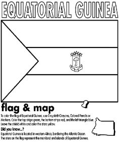 Equatorial Guinea Coloring Page