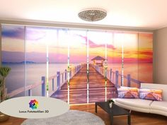 Fotogardinen Sunset Schiebevorhang Schiebegardinen Vorhang Gardinen 3d Fotodruck Sturdy Construction Home & Garden