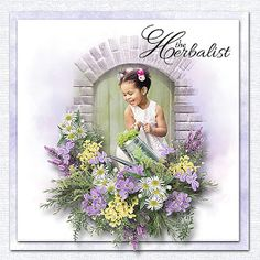 Just Art August 2019 Challenge Rosie's August Mini Kit Challenge photo Ekaterina Efremova use with permission Absolutely Stunning, Beautiful, Cute Little Girls, Floral Wreath, Challenges, Scene, Flowers, Scrapbooking, Kit