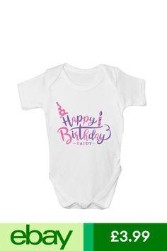 Mommy Me Happy Birthday Daddy Boys Kids Present Cute Baby Grow Body Suit Vest