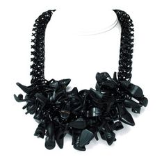 Boudoir Necklace Black Shoes, $136, now featured on Fab.