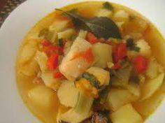 PATATAS GUISADAS CON BACALAO Patatas Guisadas, Potato Recipes, Cantaloupe, Salsa, Seafood, Fruit, Ethnic Recipes, Spanish, Fish