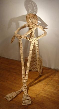 Several different installations and sculptures using clothespins.