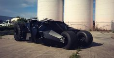 Patrol the cold streets of Gotham your city with this street legal Batman tumbler replica. Designed just like the one that the caped crusader drives, this imposing vehicle will strike fear into the heart of whatever soul-less driver tries to cut you off. Batman Car, Batman Batmobile, Batman Stuff, The Dark Knight Trilogy, One Million Dollars, Batman Begins, Love Car, Gotham, Knight