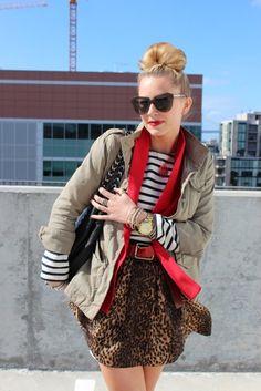Stripes, Leopard Print and Khaki...