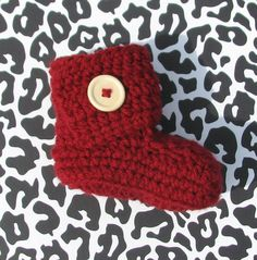 Rustic Crochet Baby Shoes - Made to Order - Available in a Variety of Colors - Sizes 0-12 Months