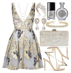 """""""Untitled #5177"""" by deedee-pekarik ❤ liked on Polyvore featuring Notte by Marchesa, Gianvito Rossi, Edie Parker, Dolce&Gabbana, Allurez, Boadicea the Victorious, Chanel and ERTH"""