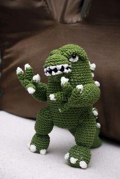 Godzilla Inspired Crochet Beanie Crochet Hats