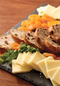 CRACKER BARREL Cheese Board with Fruit & Bread — Try this sophisticated flavor combination, perfect as an appetizer for your next dinner party.