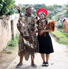 Pretty Peach & Traditional Zulu Weddings by Vita Bella Photography {Slindile & Siphile} African Wedding Attire, African Attire, African Outfits, African Clothes, African Dress, South African Weddings, African American Weddings, Zulu Traditional Wedding, Traditional Outfits