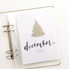 December Album 2014 {title page} by LilyandTwig at @studio_calico