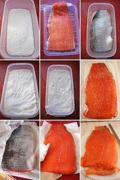 Salmon marinado pasos Salmon Pasta, Spanish Cuisine, Smoked Salmon, Cooking Time, Cooking Recipes, Sushi, Pescado Recipe, Light Recipes, Scarfs