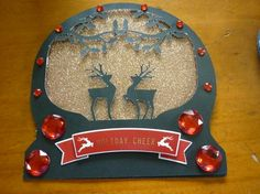 Reindeer Snow Globe Card & Topper Commercial by Deidre Chisnall: I made this card on the Brother Scan and Cut. I made the base card in…