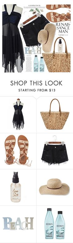 """Style on a hot day"" by vanjazivadinovic ❤ liked on Polyvore featuring Straw Studios, Billabong, Olivine, L.L.Bean, Redken, polyvoreeditorial and twinkledeals"