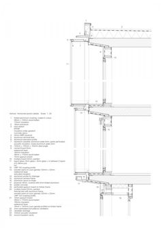 Image 17 of 33 from gallery of Het Kasteel & HVDN. Architecture Student, Architecture Drawings, Facade Architecture, Double Skin, Architectural Section, Detailed Drawings, Facade Design, Technical Drawing, Autocad
