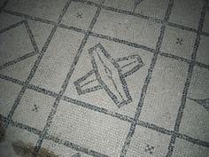 Mosaic floor as shields - The villa of Ariadne at Castellammare di Stabia