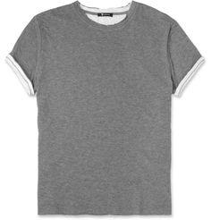 Alexander WangDouble-Layered Cotton-Jersey T-Shirt|MR PORTER