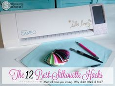Silhouette Hacks and shortcuts for Silhouette CAMEO and Silhouette Portrait crafters. Silhouette School, Silhouette Cutter, Silhouette Cameo Machine, Silhouette Vinyl, Silhouette Projects, Silhouette Design, Silhouette America, Silhouette Files, Silouette Cameo Projects