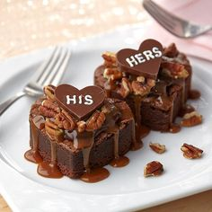 Heart-on-Heart Valentine's Day Brownies from @Wilton Cake Decorating Cake Decorating Cake Decorating Cake Decorating