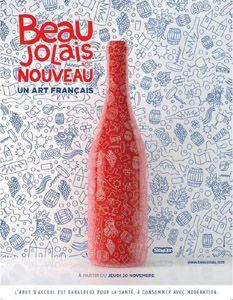 """affiche-beaujolais-2014 : """"Beaujolais nouveau AOC, un art français"""""""