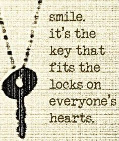 Saying Images share 30 smile quotes and pictures with sayings about smiling that make you feel happy. Smile is one of the best things in life! Life Quotes Love, Smile Quotes, Cute Quotes, Great Quotes, Words Quotes, Quotes To Live By, Smile Sayings, Quotes About Keys, Humorous Sayings