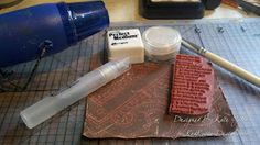 Tutorial: Stamping with Perfect Pearls ~*~ Free from Red Rubber Designs www.Red-Rubber-Designs.com!