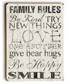 Another great find on #zulily! Family Rules Wall Art #zulilyfinds
